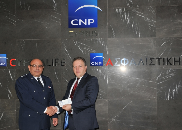 CNP ASFALISTIKI DONATION TO ROAD SAFETY CAMPAIGN 2015