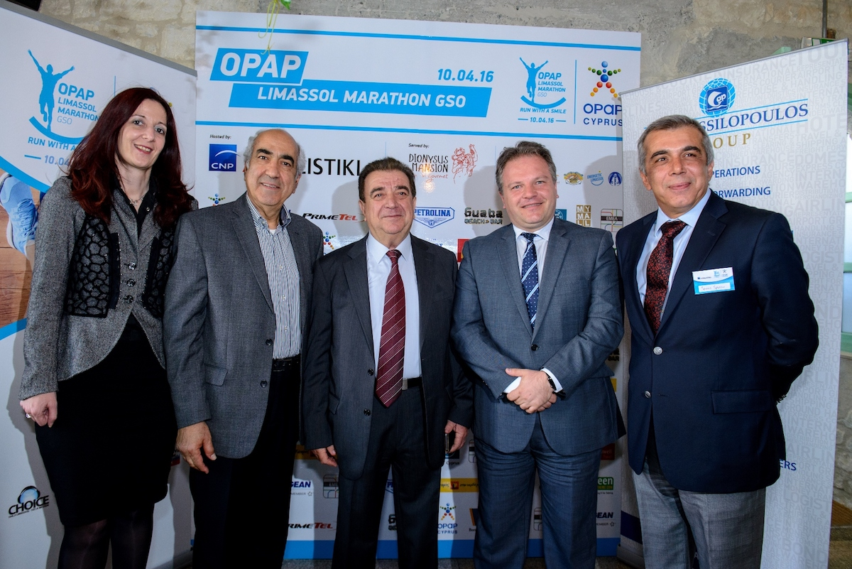 CNP Asfalistiki as one of the official sponsors of OPAP Limassol Marathon GSO