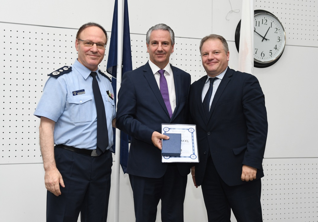 CNP ASFALISTIKI was honoured by the Cyprus Police